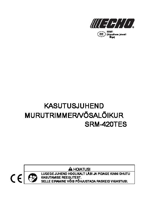 SRM-420TES kasutusjuhend Y