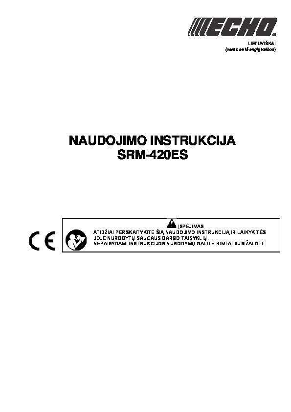 Krūmapjovė_ECHO_SRM-420ES