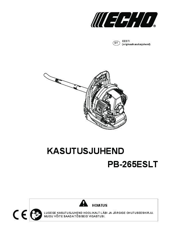 PB-265ESLT-kasutusjuhend