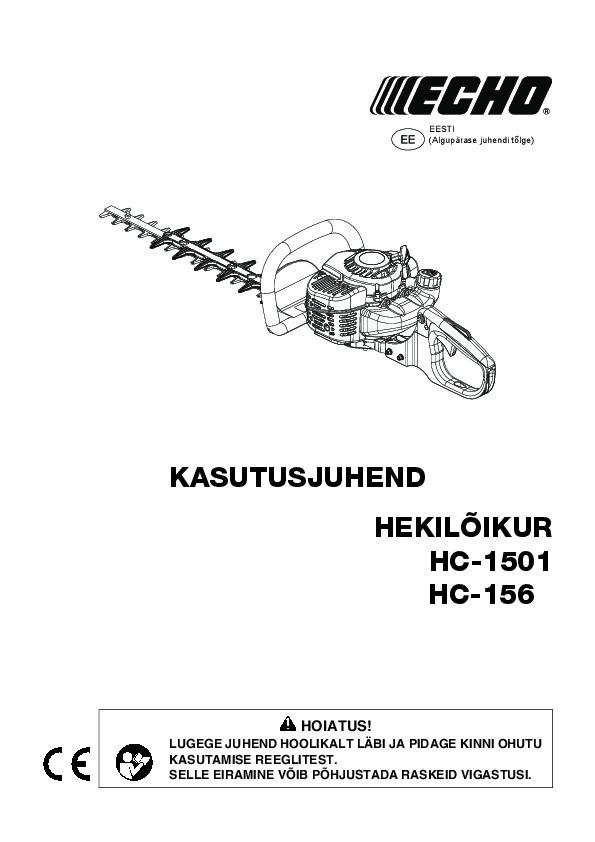 HC-1501-kasutusjuhend