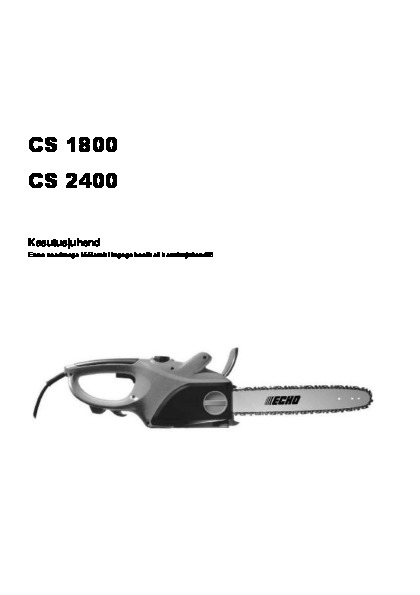 ECHO CS-2400 kasutusjuhend