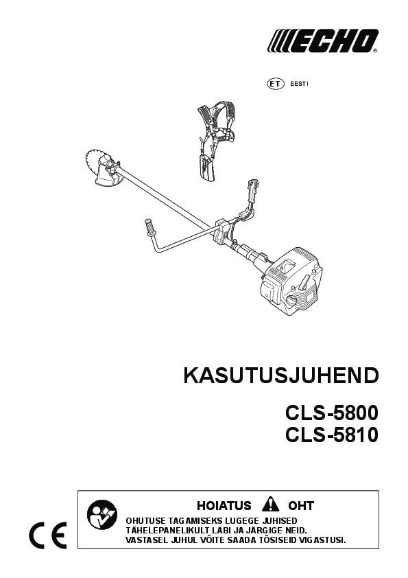 CLS-5800-kasutusjuhend