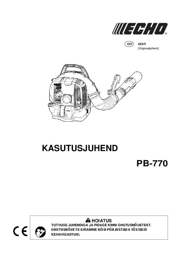 PB-770-kasutusjuhend