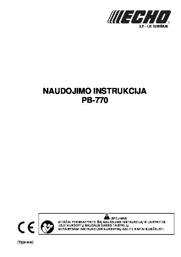 Pustuvas_ECHO_PB-770_LT