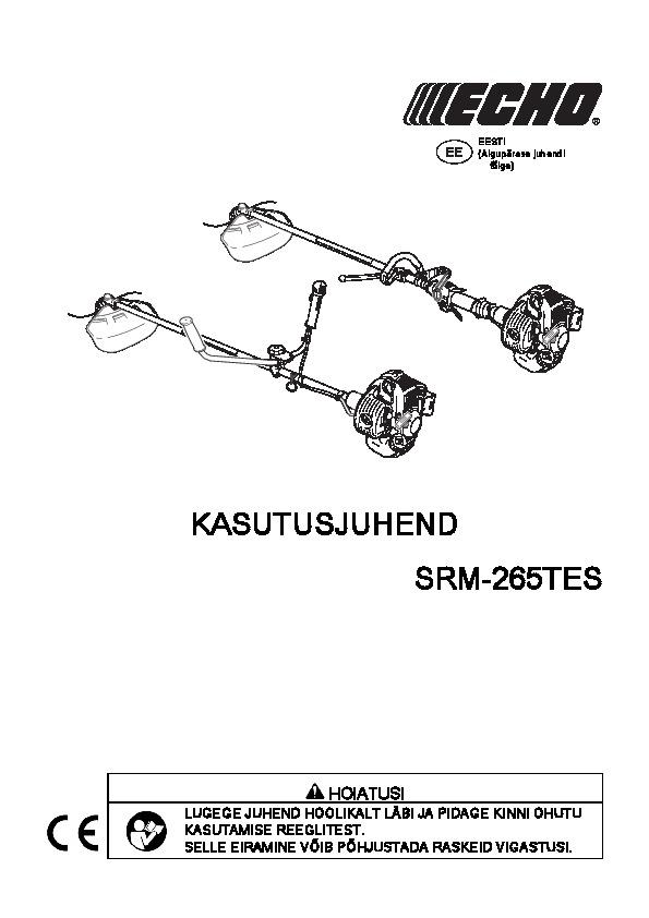 SRM-265TES-kasutusjuhend