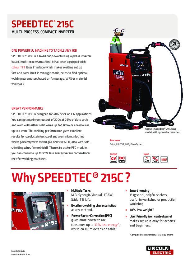 Speedtec 215C tooteleht (eng)