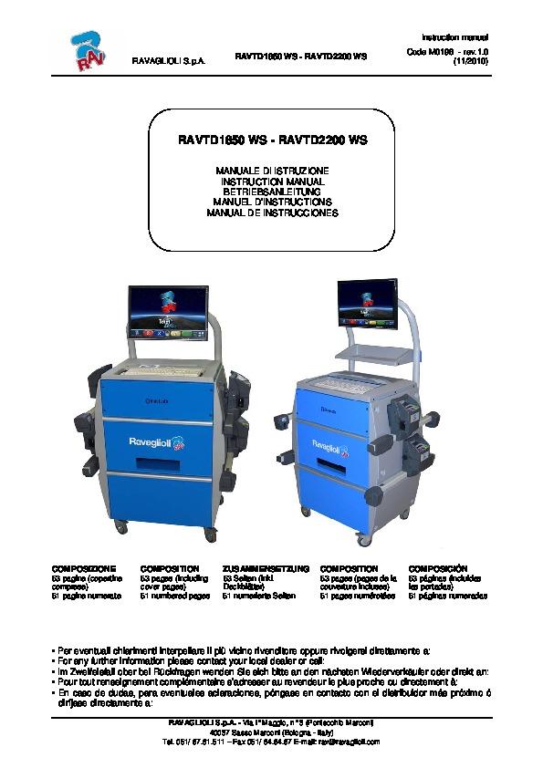 RAVTD1850WS Manual