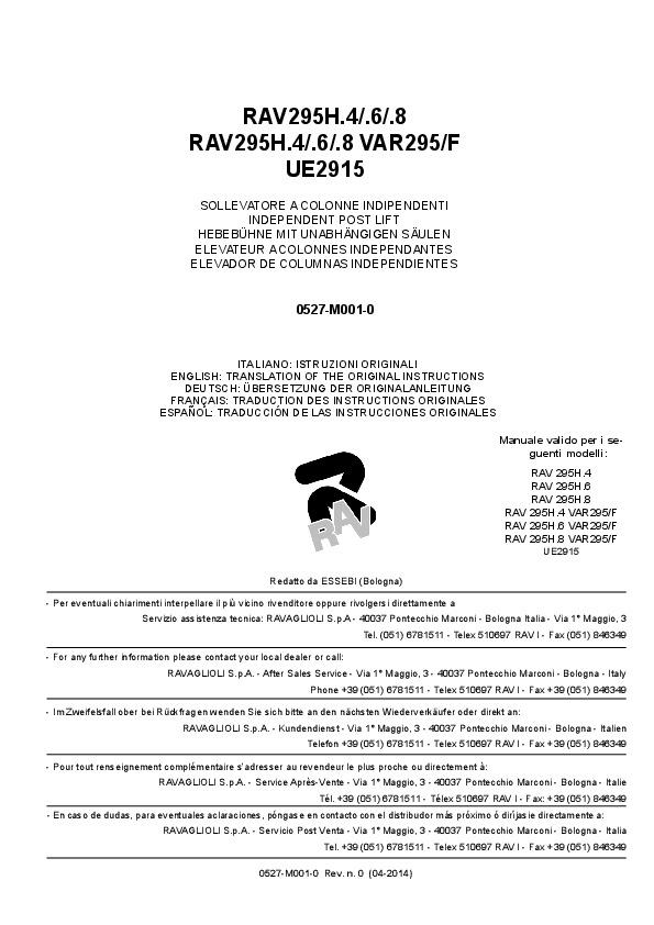 RAV295H.4 Manual