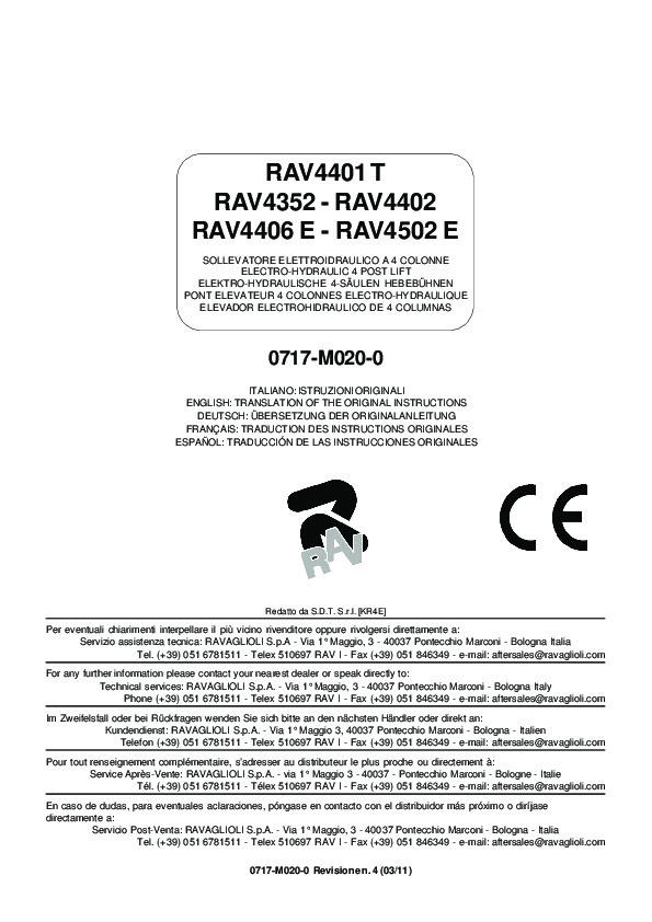 RAV4502E Manual