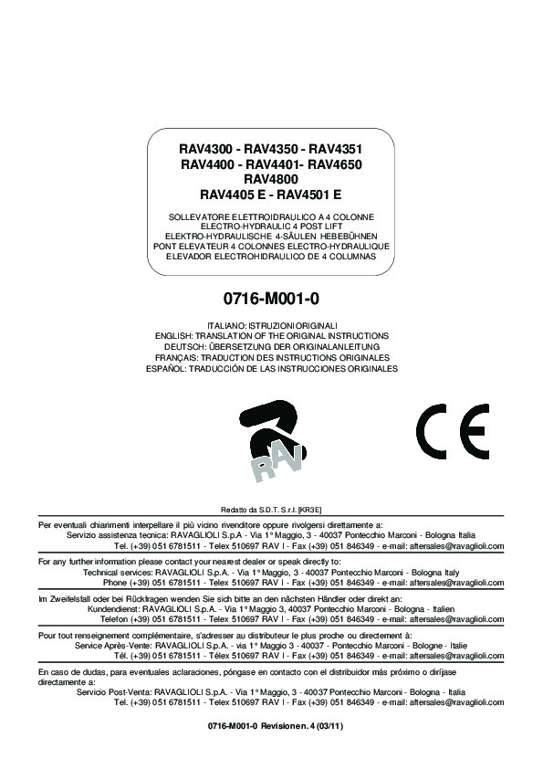 RAV4405E Manual