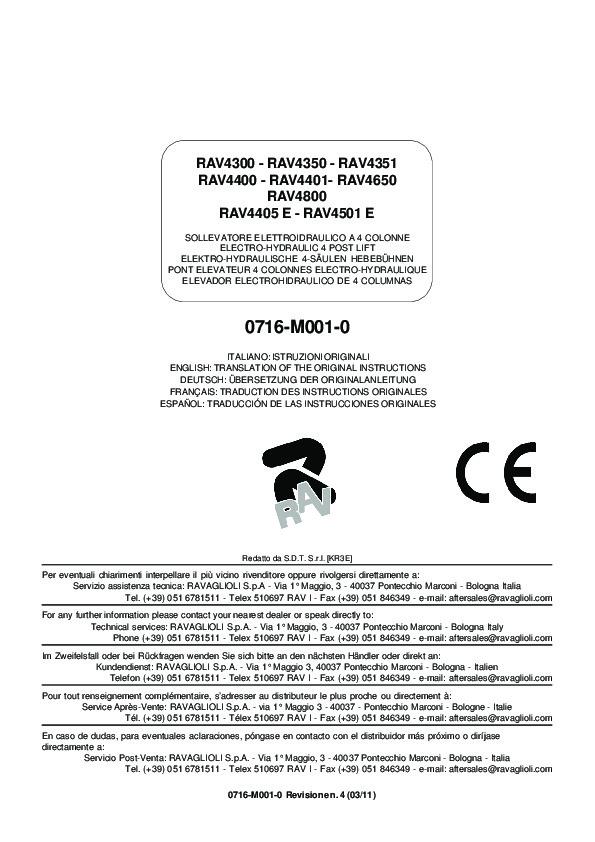 RAV4501E Manual