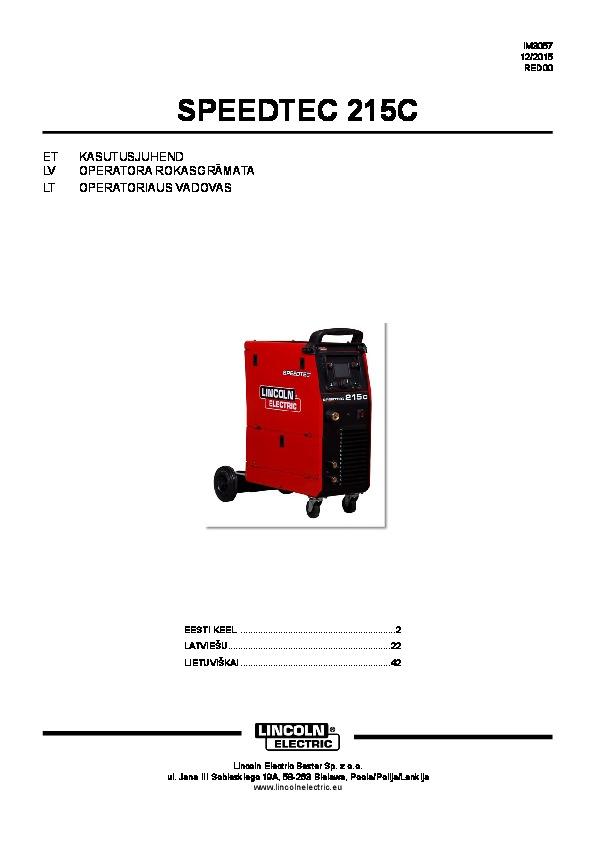 Speedtec 215C juhend EE LV LT