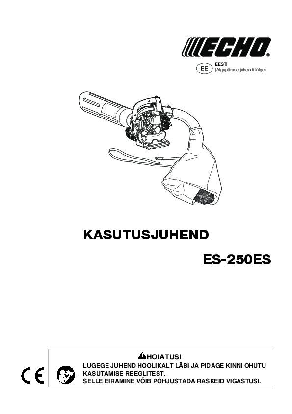 ES-250ES-kasutusjuhend