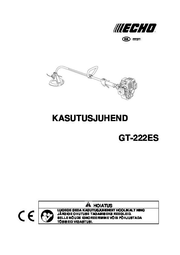GT-222ES-kasutusjuhend