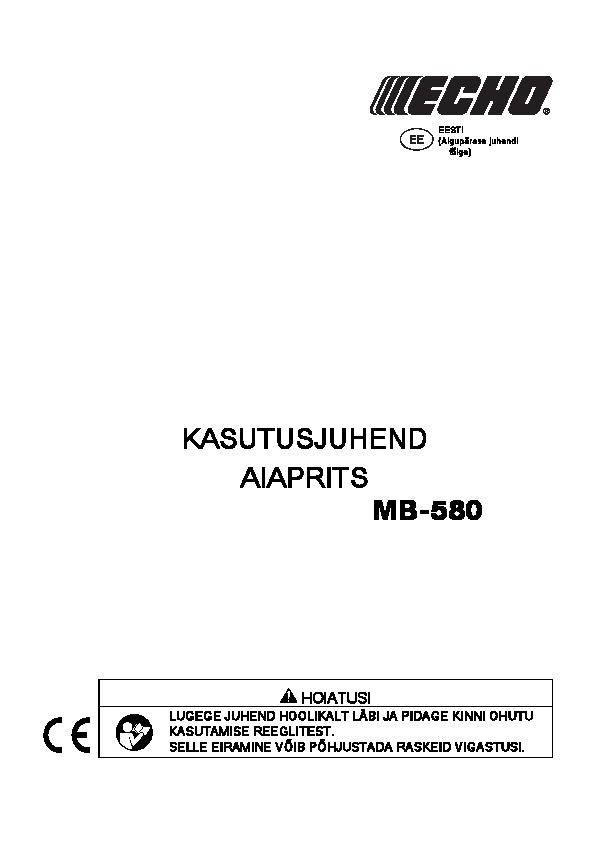 MB-580-kasutusjuhend