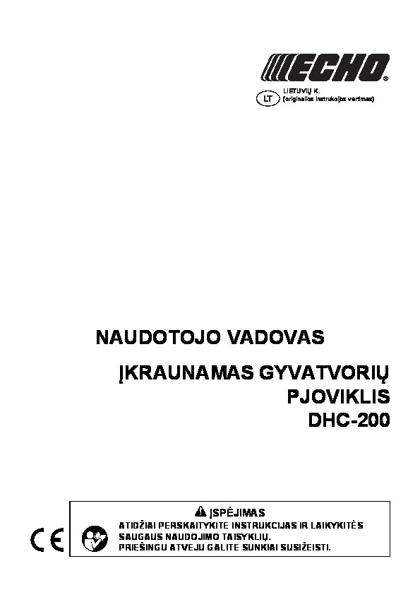 Operating manual for DHC-200 L