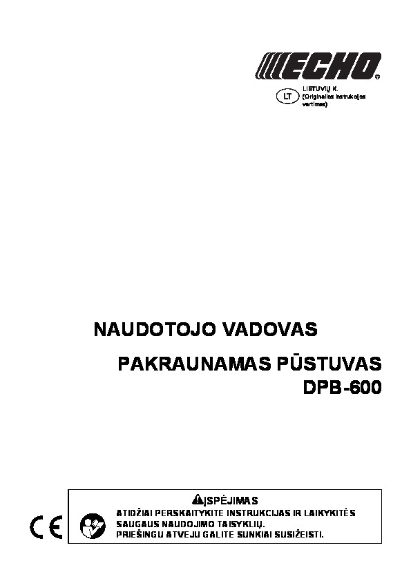 Operating manual for DPB-600 L