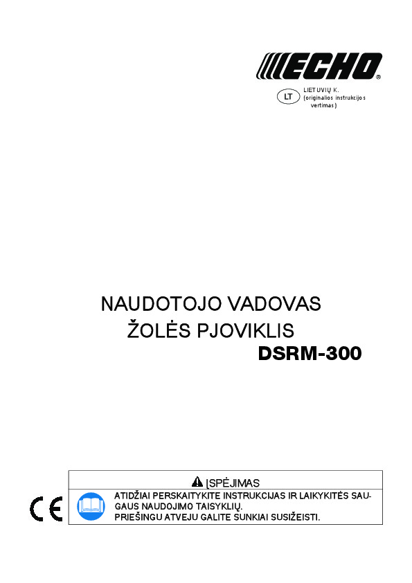 Operating manual for DSRM-300