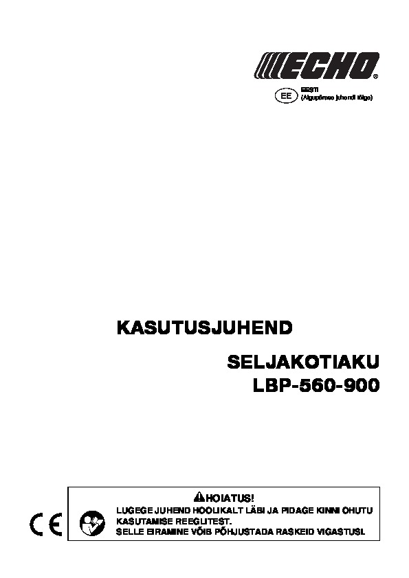 Operating manual for LBP-560-9