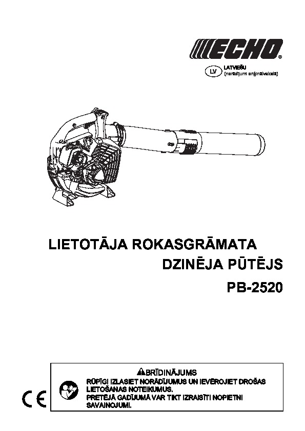 PB-2520 operating manual LT