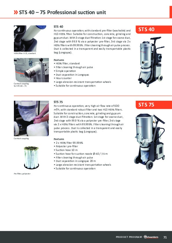 Professional suction unit STS