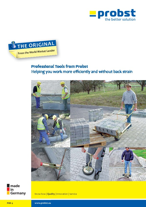 Professional tools from Probst