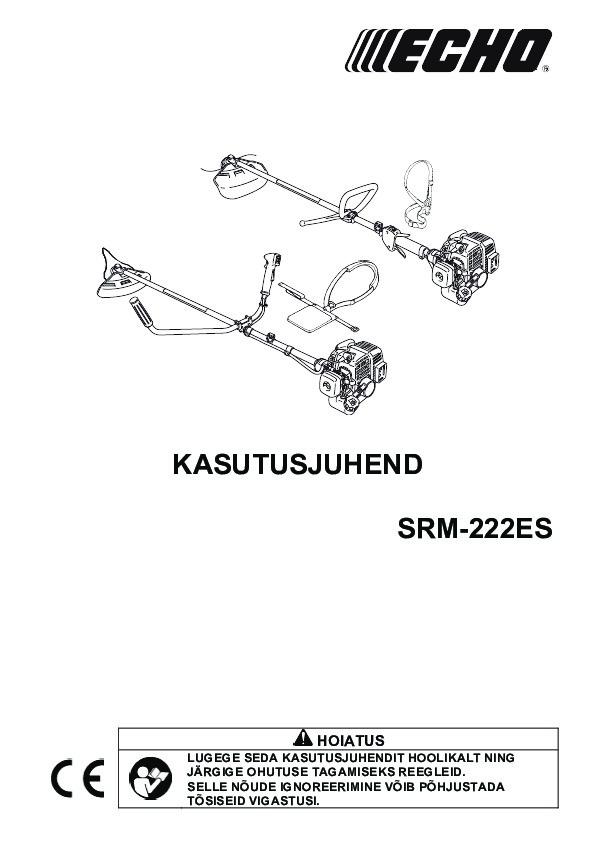 SRM-222ES-kasutusjuhend