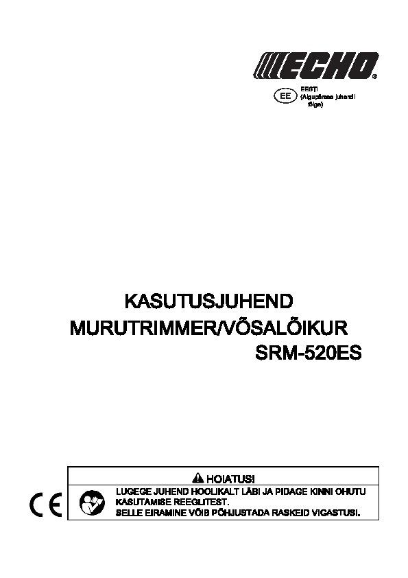 SRM-520ES-kasutusjuhend