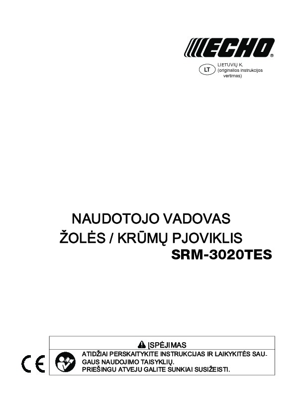 SRM3020TES operating manual LT