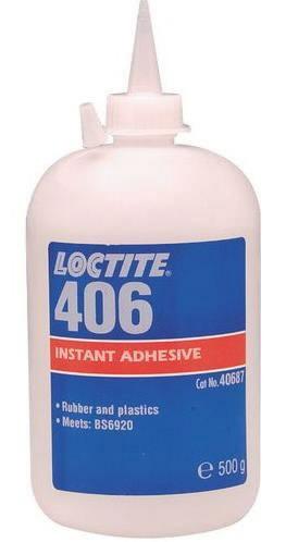 Kiirliim (plastmassid, kummid)  406 500g, Loctite