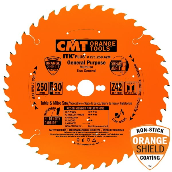 ITK PLUS RIP AND CROSSCUT SAW BLADE HW 235X2.4X30(+25) Z=36, CMT