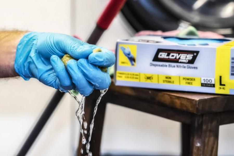 Cimdi, nitrila, bez pūlvera, blue, vienreizējās lietošanas S S/7, Gloves Pro®