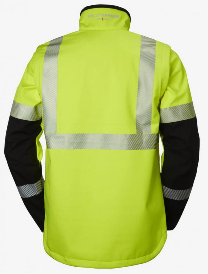 Softshell jakk Icu 2-in-1, kõrgnähtav CL3, kollane/must S, Helly Hansen WorkWear