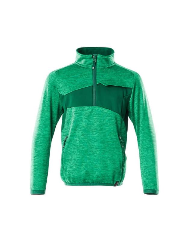 Flīsa džemperis bērniem Accelerate, zaļš 140, Mascot
