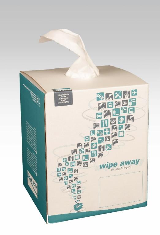 Ebemevaba pühkelapp rullis Softextra 390 tk, 38x30 cm, valge, Wipe Away
