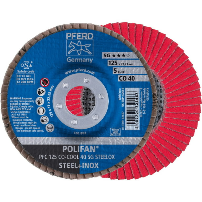 Lameļu slīpdisks 125mm P40 CO-COOL PFC Ceramic, Pferd