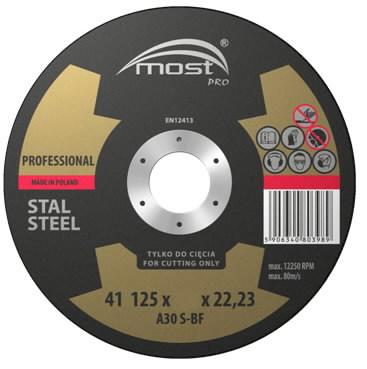 Metallilõikeketas 125x1,6mm PRO 41, MOST