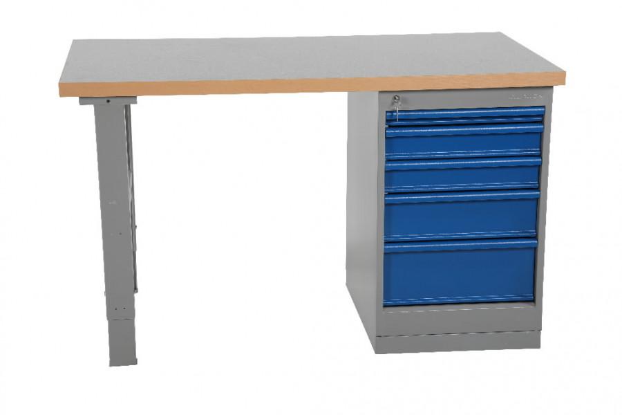Töölaud  1600x800mm sahtliboksiga (5 sahtlit), vinüül, Intra
