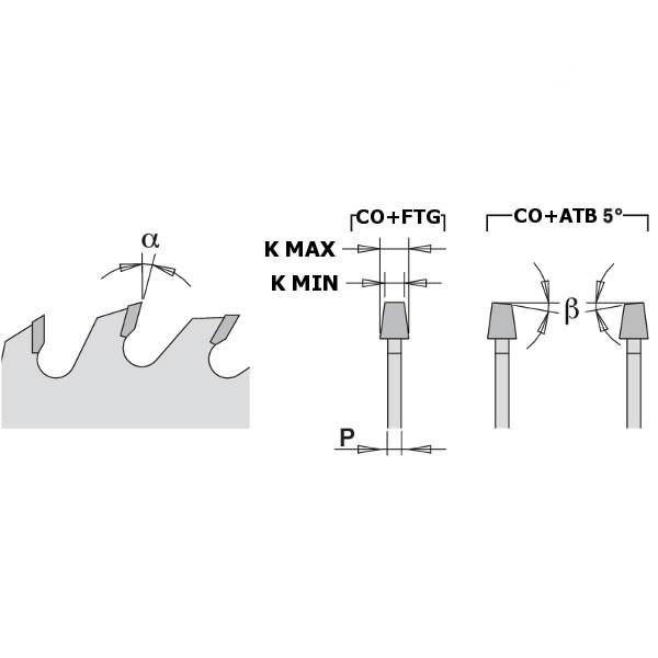 CONICAL SCORING SAW BLADE 200X4.3-5.5X65 Z36, CMT