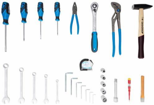Tööriista kompl + kott, 29-osa, Gedore