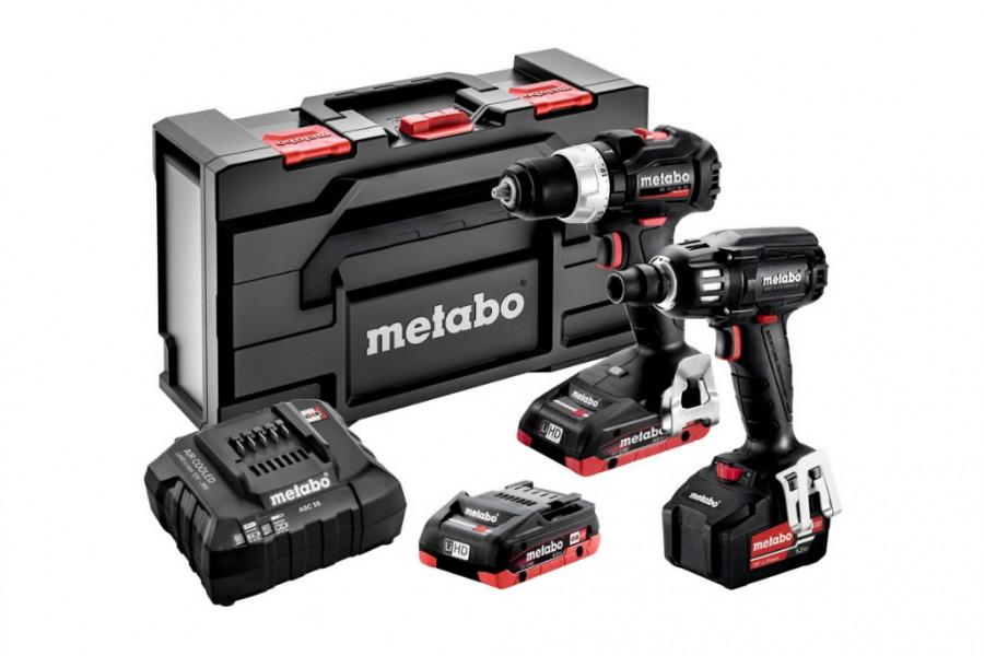 18V Combo: BS 18 LT BL SE + SSW 18 LTX 400 BL SE, Metabo