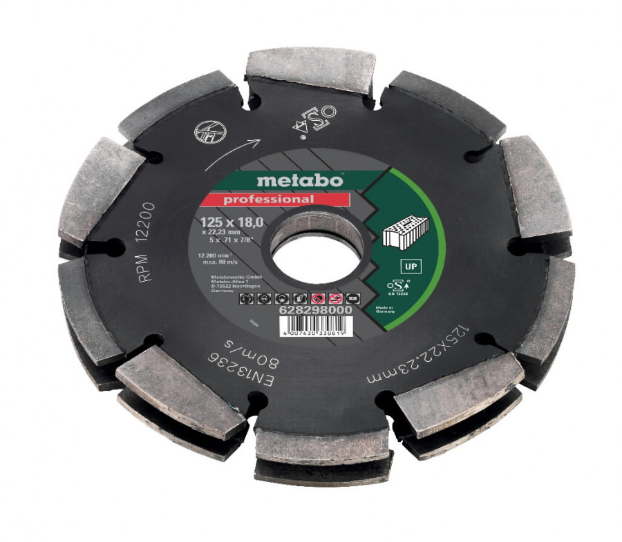 Deimantinis pjovimo diskas Dia-CD2 125x18x22.23 mm UP MFE 40, Metabo