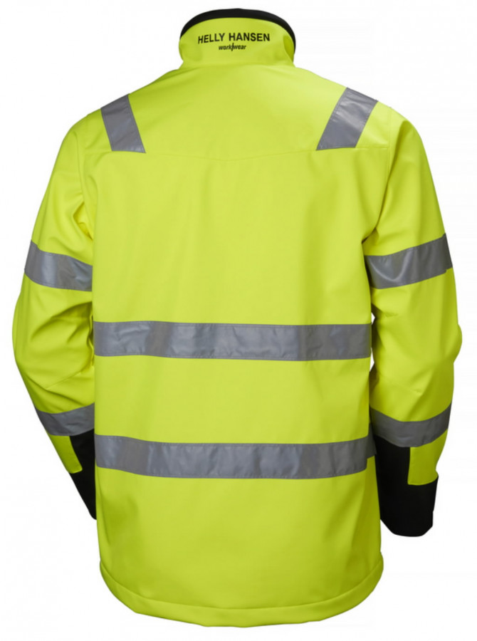 Softshell jakk Alna kõrgnähtav CL3, kollane/must M, Helly Hansen WorkWear