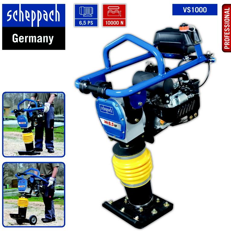 Tamper VS1000, 10KN, 78kg, Scheppach