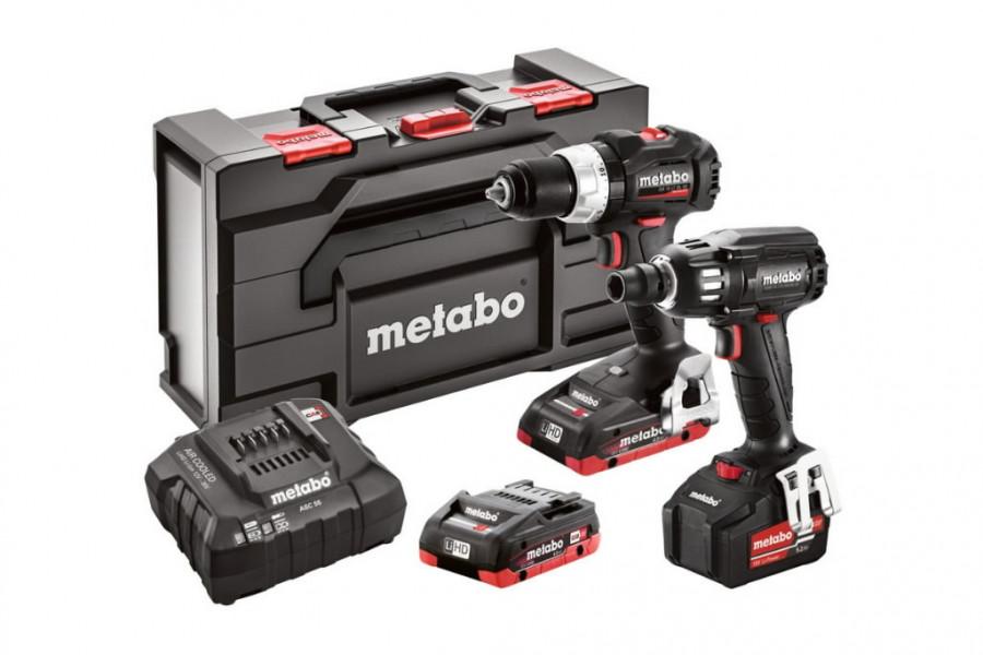 18V Combo:SB 18 LT BL SE + SSW 18 LTX 400 BL SE, Metabo