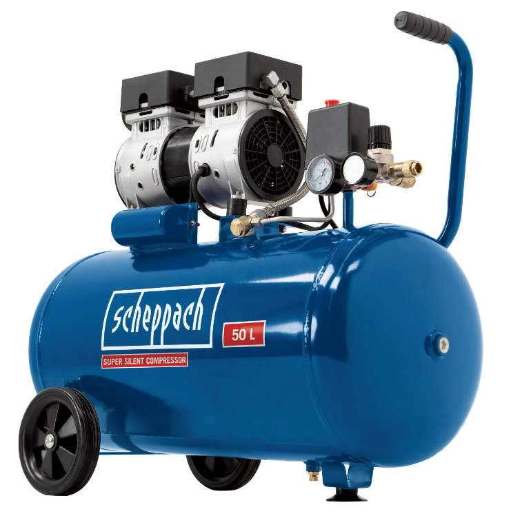 Õlivaba kompressor HC 50Si, vaikne, Scheppach