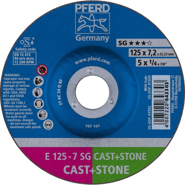Lihvketas 125x7mm SG Cast+Stone, Pferd