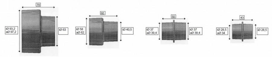 Adapteri kmpl. (4 tk). OSM 100 / HA 1000, Scheppach