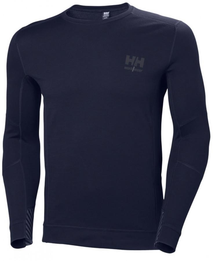 Apatiniai marškinėliai LIFA MERINO CREWNECK, navy L, Helly Hansen WorkWear