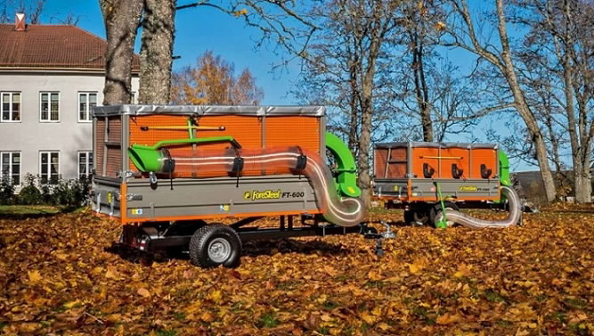 Haagis Foresteel FT-600 Leaf Trailer
